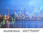 oil refinery with candlestick... | Shutterstock . vector #1027752037