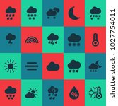 climate icons set with night ...   Shutterstock .eps vector #1027754011