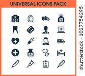 drug icons set with doctor ... | Shutterstock .eps vector #1027754395