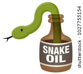 an image of a snake oil bottle. | Shutterstock .eps vector #1027755154