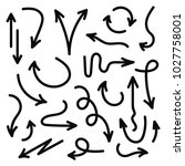 vector hand drawn arrows set.... | Shutterstock .eps vector #1027758001