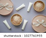 natural cosmetic packaging... | Shutterstock . vector #1027761955