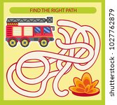 find the right path for fire... | Shutterstock .eps vector #1027762879