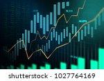 stock market or forex trading...   Shutterstock . vector #1027764169