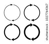 arrow rotation vector icon set... | Shutterstock .eps vector #1027764367
