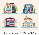 set of city public buildings....   Shutterstock .eps vector #1027766065