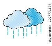 grated nature cloud raining... | Shutterstock .eps vector #1027771879