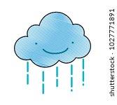 grated kawaii happy cloud... | Shutterstock .eps vector #1027771891