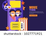 movie time  date at the cinema... | Shutterstock .eps vector #1027771921