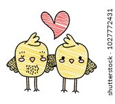 grated chicks couple together... | Shutterstock .eps vector #1027772431