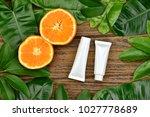 cosmetics skincare with vitamin ... | Shutterstock . vector #1027778689