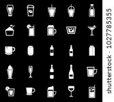 beverage icons on black... | Shutterstock .eps vector #1027785355