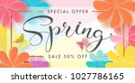 illustration of spring sale... | Shutterstock .eps vector #1027786165
