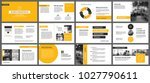 yellow presentation templates... | Shutterstock .eps vector #1027790611