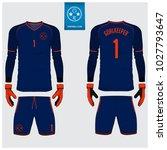 goalkeeper jersey or soccer kit ... | Shutterstock .eps vector #1027793647