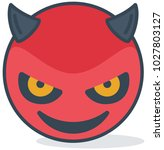 isolated evil smiling emoticon | Shutterstock .eps vector #1027803127