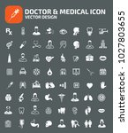doctor and medical icon set... | Shutterstock .eps vector #1027803655