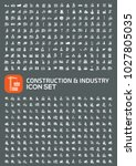 construction and industry icon... | Shutterstock .eps vector #1027805035
