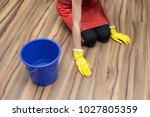woman cleaning concept. woman... | Shutterstock . vector #1027805359