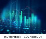 financial graph on technology... | Shutterstock . vector #1027805704