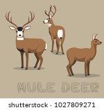 deer mule cartoon vector... | Shutterstock .eps vector #1027809271