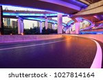 the purple blue led landscape...   Shutterstock . vector #1027814164