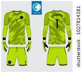 goalkeeper jersey or soccer kit ... | Shutterstock .eps vector #1027814281