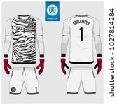 goalkeeper jersey or soccer kit ... | Shutterstock .eps vector #1027814284