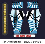 leggings pants fashion... | Shutterstock .eps vector #1027814491