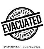 evacuated stamp. typographic... | Shutterstock .eps vector #1027823431
