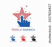vote for america logo   Shutterstock .eps vector #1027826827