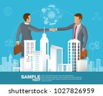 global cooperation. businessmen ...   Shutterstock .eps vector #1027826959