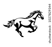 horse icon  vector  silhouette  | Shutterstock .eps vector #1027829344