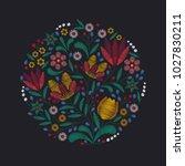 floral background in vintage...   Shutterstock .eps vector #1027830211