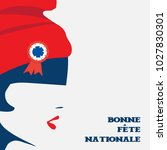 vector illustration for french... | Shutterstock .eps vector #1027830301