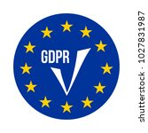 gdpr   general data protection... | Shutterstock .eps vector #1027831987