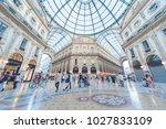 milan  italy   may 26  2014  ... | Shutterstock . vector #1027833109