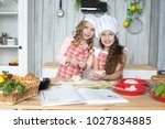 girls  sisters  girlfriends ... | Shutterstock . vector #1027834885