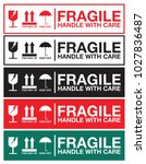 fragile handle with care... | Shutterstock .eps vector #1027836487