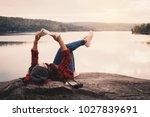 relaxing moment asian tourist... | Shutterstock . vector #1027839691