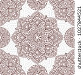 seamless pattern with mandala.... | Shutterstock .eps vector #1027844521