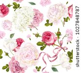 vector vintage floral seamless... | Shutterstock .eps vector #1027848787