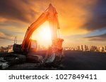 articulated wheel bucket... | Shutterstock . vector #1027849411