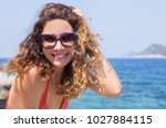 portrait of young pretty woman... | Shutterstock . vector #1027884115