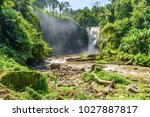 tegenungan waterfall near ubud  ... | Shutterstock . vector #1027887817