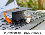 online learning or e learning... | Shutterstock . vector #1027890211