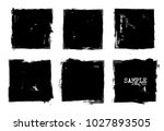 grunge style set of square... | Shutterstock .eps vector #1027893505