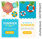 hello summer time banner... | Shutterstock .eps vector #1027893655