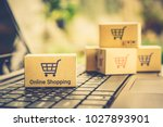 online shopping   ecommerce and ... | Shutterstock . vector #1027893901
