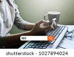seo concept  business women... | Shutterstock . vector #1027894024